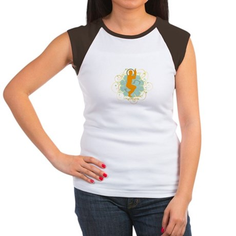 Get it om. Eagle Pose Yoga Women's Cap Sleeve T-Sh