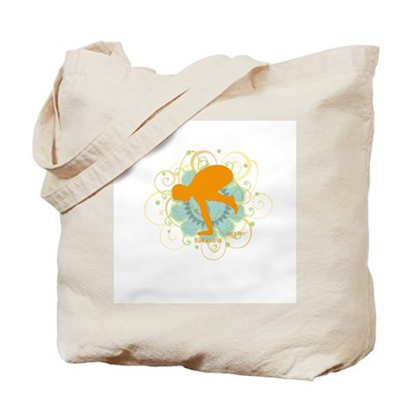 Get it Om. Crow Posture, Yoga Tote Bag