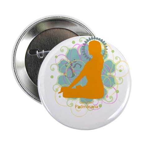"Get it Om. Lotus Posture, Yog 2.25"" Button (10 pac"