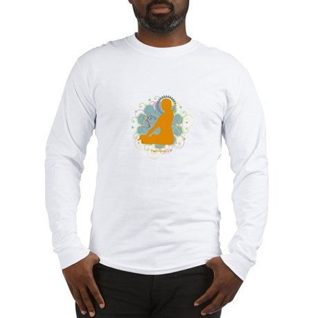 Get it Om. Lotus Posture, Yog Long Sleeve T-Shirt