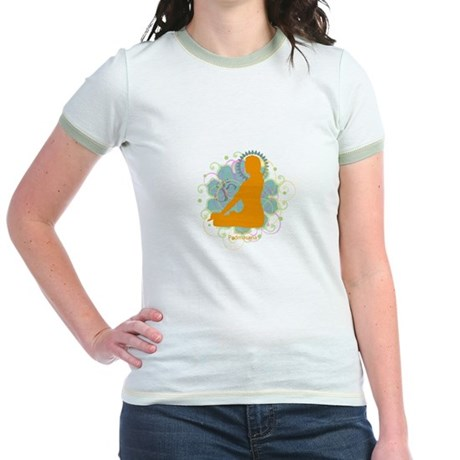 Get it Om. Lotus Posture, Yog Jr. Ringer T-Shirt