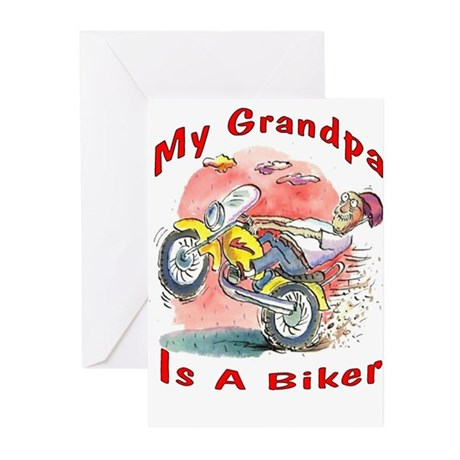 Grandpa Biker Greeting Cards (Pk of 10)