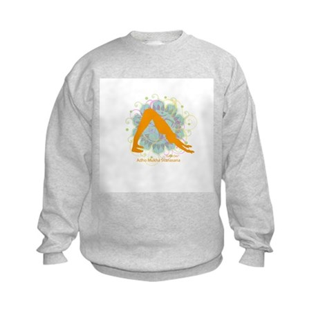 Get it Om. Downward Dog, Yoga Kids Sweatshirt