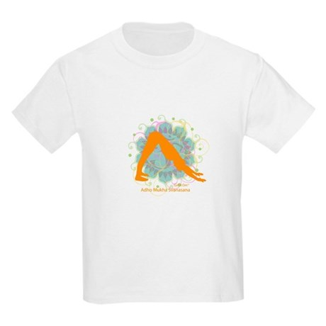 Get it Om. Downward Dog, Yoga Kids T-Shirt
