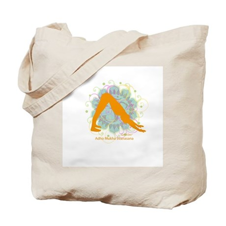 Get it Om. Downward Dog, Yoga Tote Bag