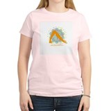 Get it Om. Downward Dog, Yoga Women's Pink T-Shirt