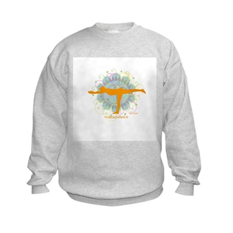 Get it Om. Warrior III Yoga P Kids Sweatshirt