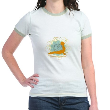 Get it Om. Upward Dog, Yoga P Jr. Ringer T-Shirt