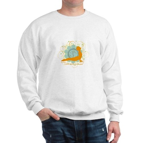 Get it Om. Upward Dog, Yoga P Sweatshirt