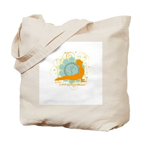 Get it Om. Upward Dog, Yoga P Tote Bag