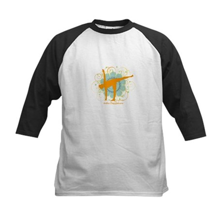 Get it Om. Half Moon Yoga Pos Kids Baseball Jersey
