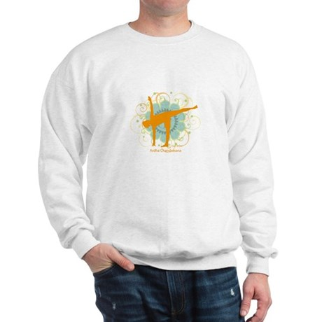 Get it Om. Half Moon Yoga Pos Sweatshirt