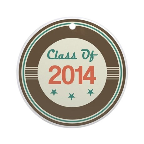 Class of 2014 Vintage Ornament (Round)