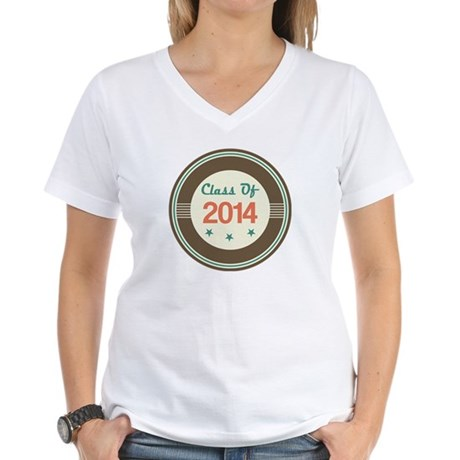 Class of 2014 Vintage Women's V-Neck T-Shirt