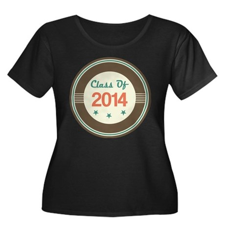 Class of 2014 Vintage Women's Plus Size Scoop Neck