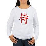 Japanese Samurai Kanji (Front) Women's Long Sleeve
