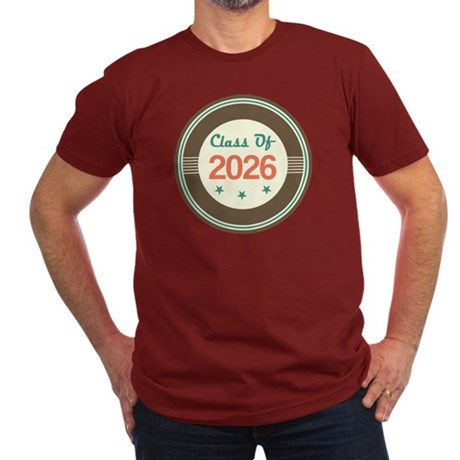 Class of 2026 Vintage Men's Fitted T-Shirt (dark)