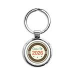 Class of 2026 Vintage Round Keychain