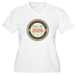 Class of 2026 Vintage Women's Plus Size V-Neck T-S