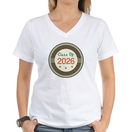 Class of 2026 Vintage Women's V-Neck T-Shirt