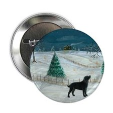 "Winter Labrador 2.25"" Button (100 pack)"