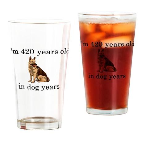 60 birthday dog years german shepherd Drinking Gla