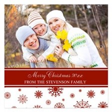 Red White Family Christmas Invitations