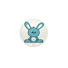 Blue Bunny Mini Button (10 pack)