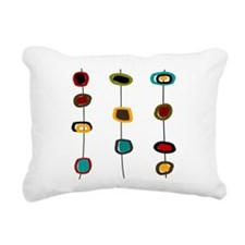 Mid Century Modern Rectangular Canvas Pillow