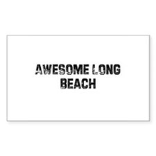 Awesome Long Beach Rectangle Decal