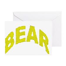 BEAR/WOOF YELLOW MOSAIC Greeting Cards (10 pk
