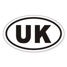 UK United Kingdom Euro Oval Decal