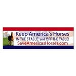 Save Americas Horses Bumper Sticker