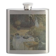 The Luncheon by Claude Monet Flask