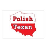 Polish Texan Poland Map Postcards (Package of 8)