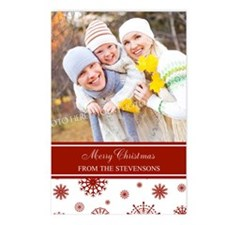 Red White Christmas Photo Postcards (Package of 8)