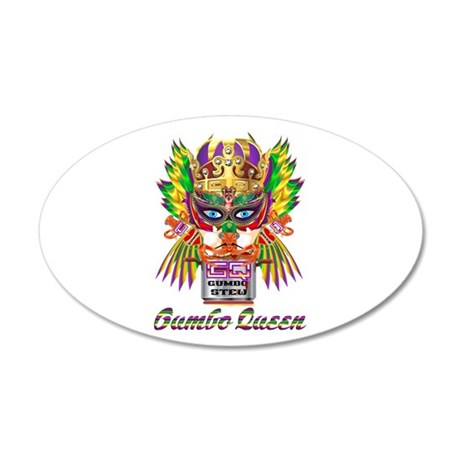 Mardi Gras Gumbo Queen 2 35x21 Oval Wall Decal