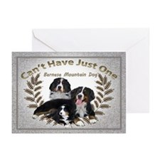 Bernese Mt. Dog Cant Have Just One Greeting Cards