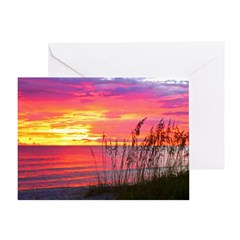Coral Captiva Sunset Greeting Card