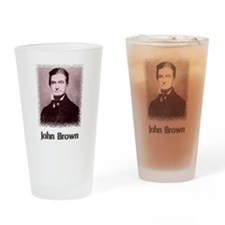 John Brown w text Drinking Glass