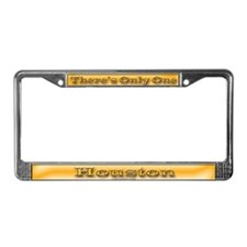 Houston License Plate Frame
