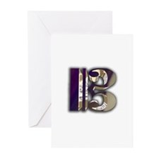 Bass Clef in Metal Greeting Cards (Pk of 10)