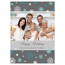 Grey Family Christmas Photo Invitations