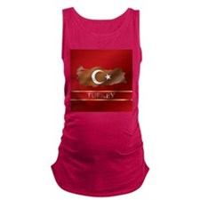Turkey Map and Flag Maternity Tank Top