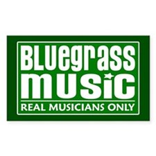 Bluegrass Music Rectangle Decal