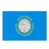 South Dakota Flag Postcards (Package of
