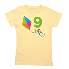 9th Birthday Kite Girl's Tee