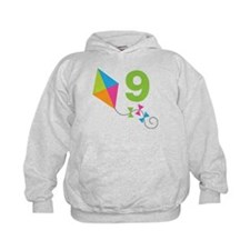 9th Birthday Kite Hoodie
