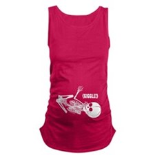 Skeleton Baby (Giggle) Maternity Tank Top