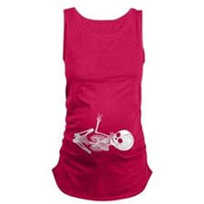 Baby Skeleton Peace Maternity Tank Top